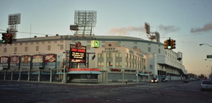 Tiger Stadium at the corner of Michigan Avenue and Trumbull Avenue.
