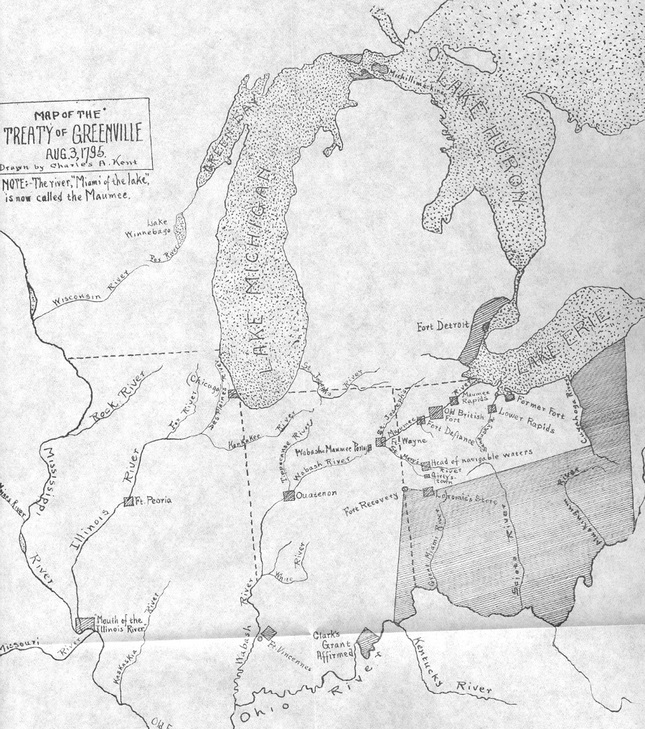 Greenville Treaty map