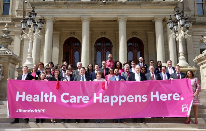 The Michigan House Democrats stand with Planned Parenthood